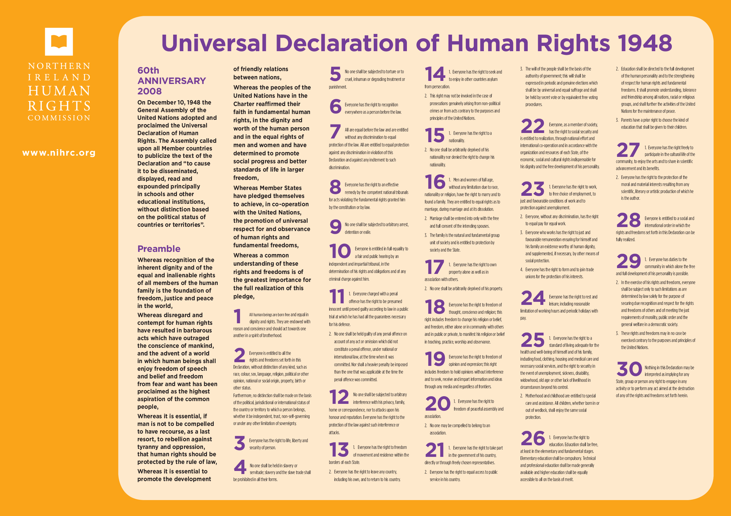 Universal Declaration of Human Rights (UDHR) Poster - resource 1