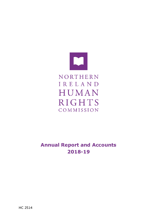 Annual Report and Accounts 2018-2019