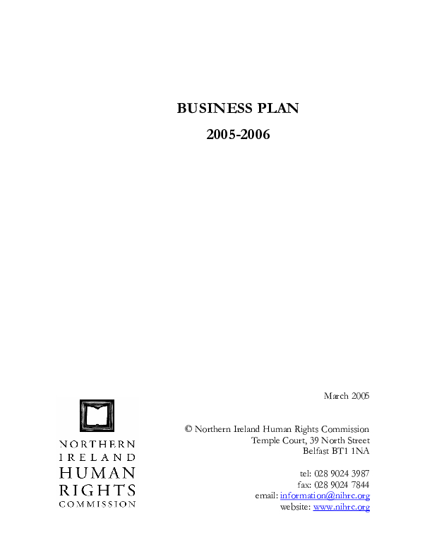Our Business Plan 2005-2006