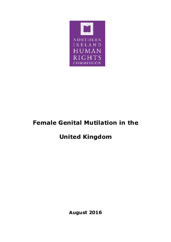 Female Genital Mutilation in the United Kingdom