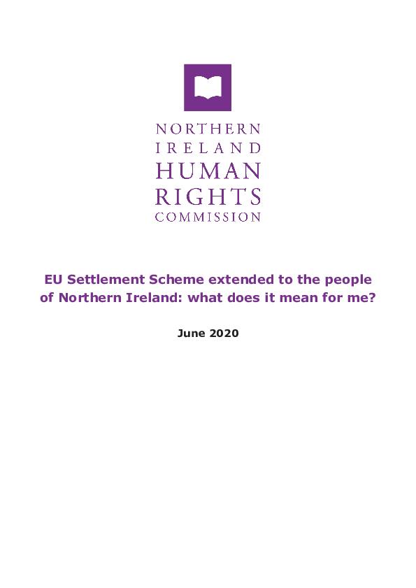 EU Settlement Scheme Briefing PDF