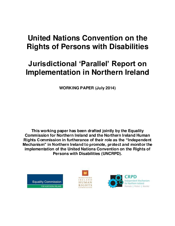 Parallel Report on Implementation of UNCRPD in N.I
