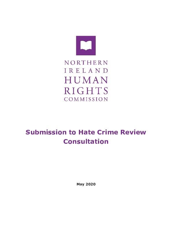 NIHRC Hate Crime Review PDF