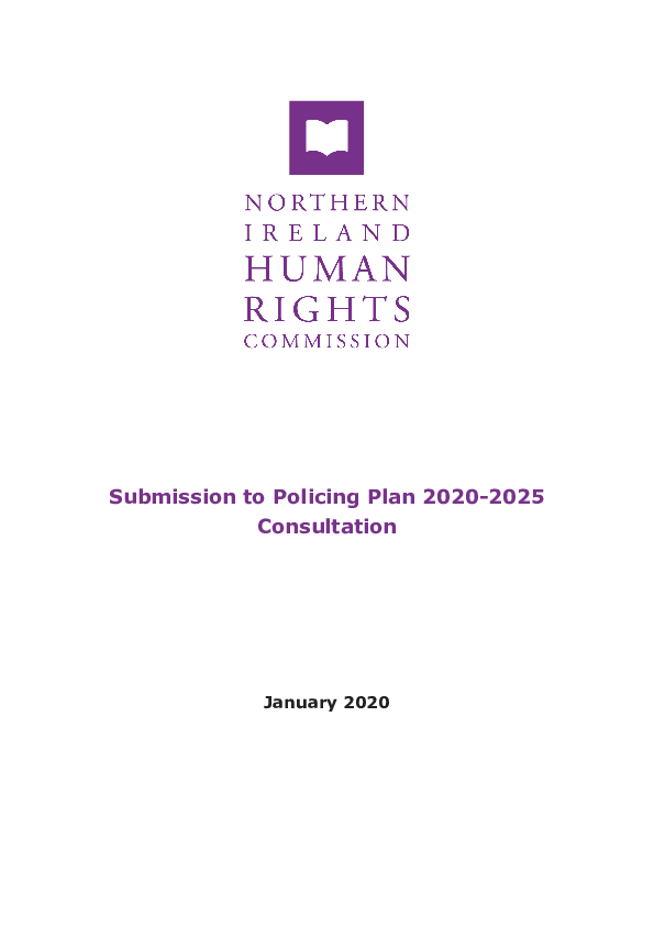 Submission to Policing Plan 2020-2025 Consultation