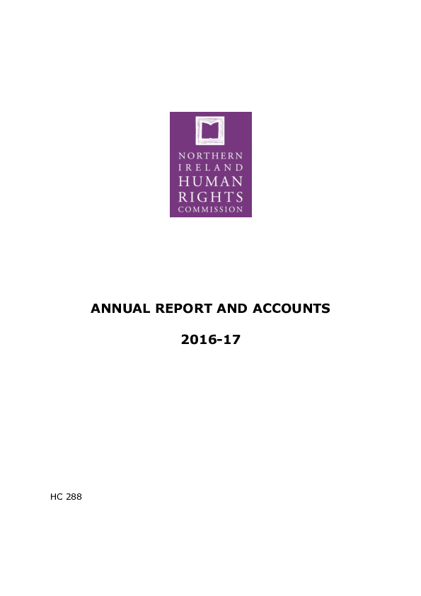 Annual Report and Accounts 2016-2017