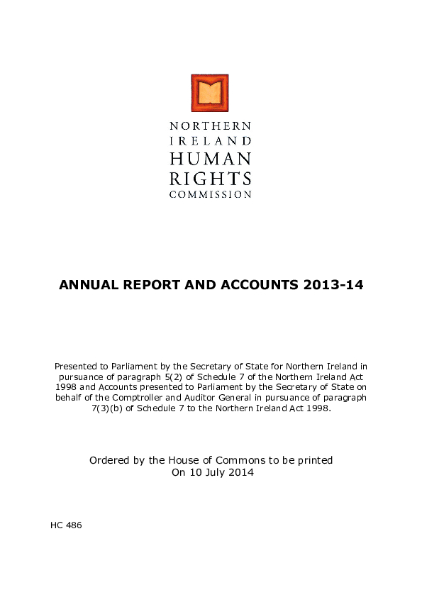 Annual Reports and Accounts 2013-14
