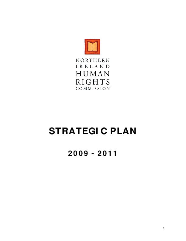 Strategic Plan 2009-2011