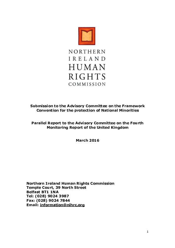 Submission to the Advisory Committee on the FCNM