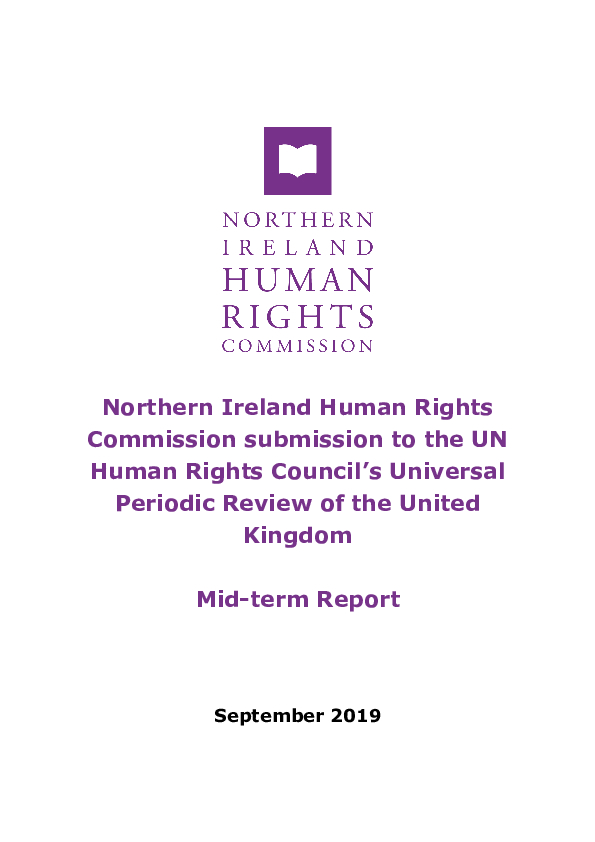 NIHRC submission to the UN Human Rights Council's Universal Periodic Review of the United Kingdom - Mid-term Report