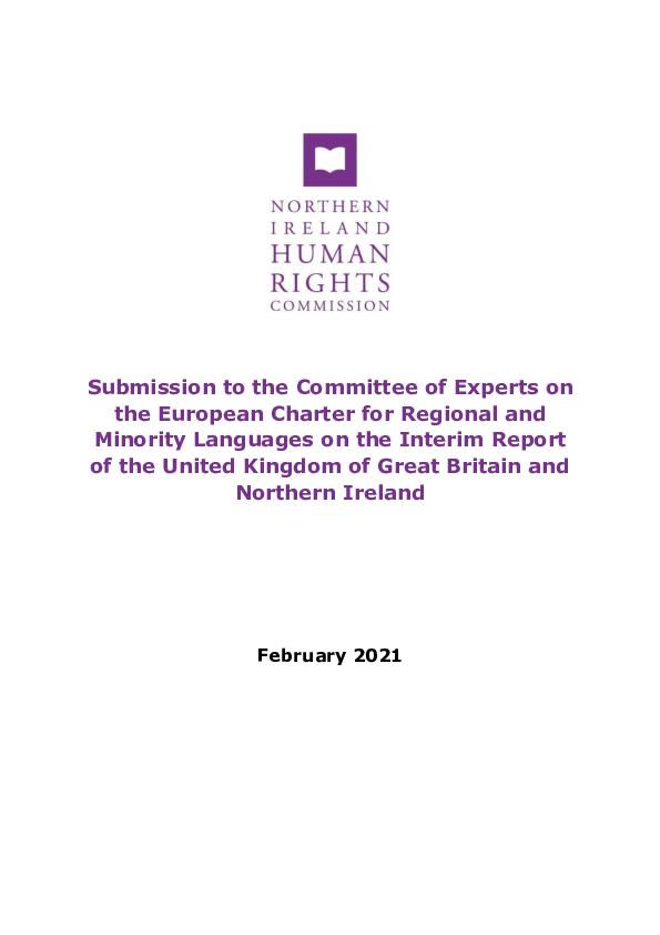 NIHRC Comex submission PDF