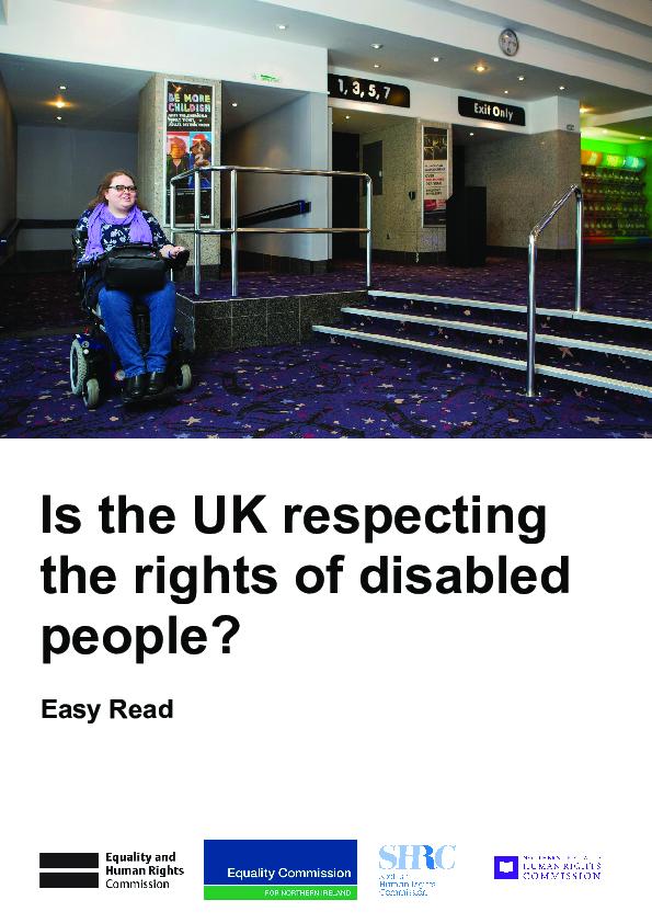UK Independent Mechanism: Update Report to UN Committee on the CRPD - Easy Read