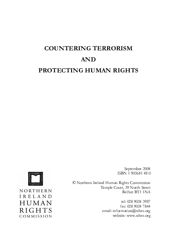 Counter Terrorism and Protecting Human Rights