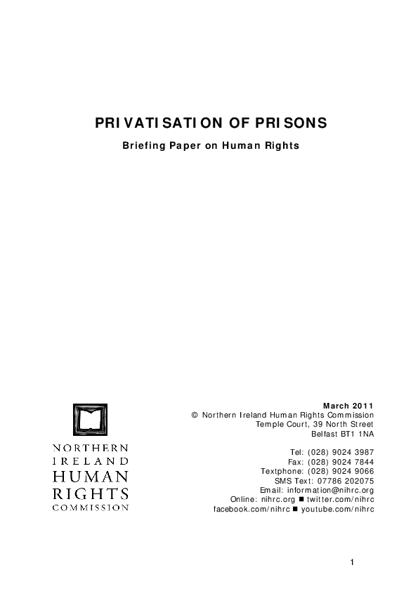 Privatisation of Prisons