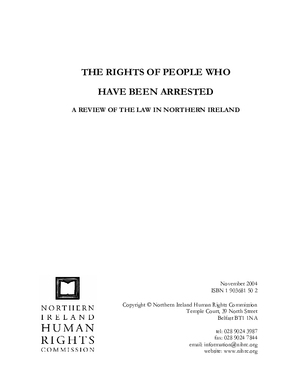 Rights of People Arrested
