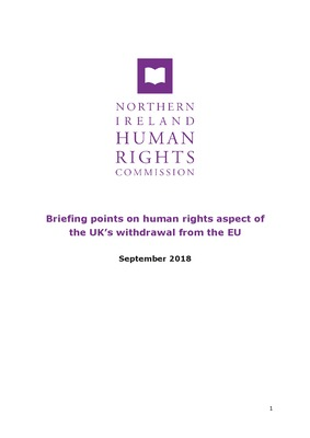 Briefing on human rights aspect of the UK's withdrawal from the EU