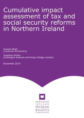 Cumulative impact assessment of tax and social security reforms in Northern Ireland