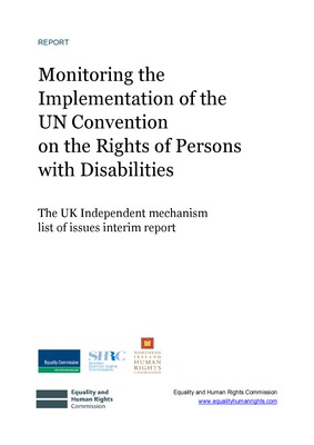 UNCRPD- UK Independent Mechanism list of issues interim report