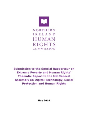 Submission to the Special Rapporteur on Extreme Poverty and Human Rights' Thematic Report to the UN General Assembly on Digital Technology, Social Protection and Human Rights