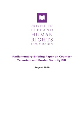 Parliamentary Briefing Paper on Counter-Terrorism and Border Security Bill