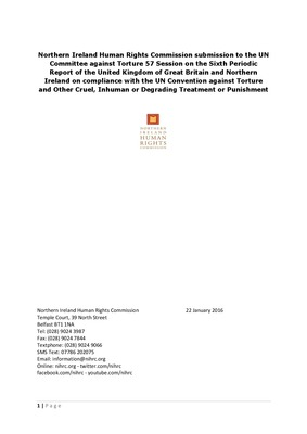 Northern Ireland Human Rights Commission Submission to the UN Committee against Torture