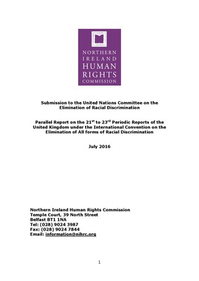 NIHRC Submission to the CERD Committee