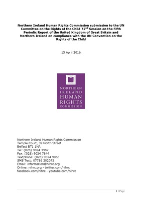 NIHRC Submission to UNCRC Committee