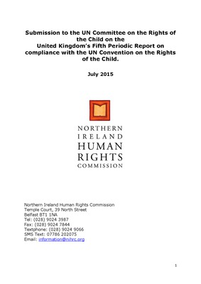 NIHRC Report to UNCRC Committee