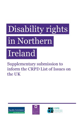 Disability Rights in Northern Ireland UKIM Supplementary Submission