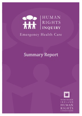 Human Rights Inquiry: Emergency Health Care Summary Report