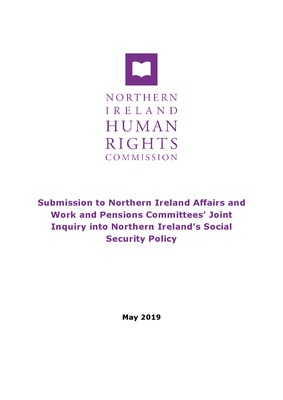 Submission to Northern Ireland Affairs and Work and Pensions Committees' Joint Inquiry into Northern Ireland's Social Security Policy