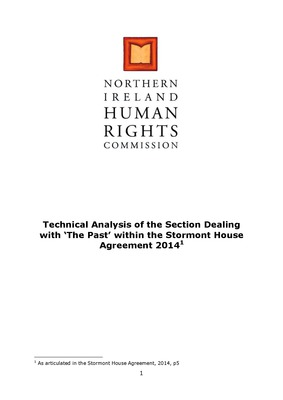 Technical Analysis of the Dealing with the Past Section within the Stormont House Agreement