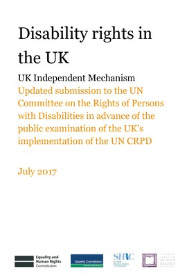 UK Independent Mechanism: Updated submission to CRPD ahead of UK's UNCRPD examination