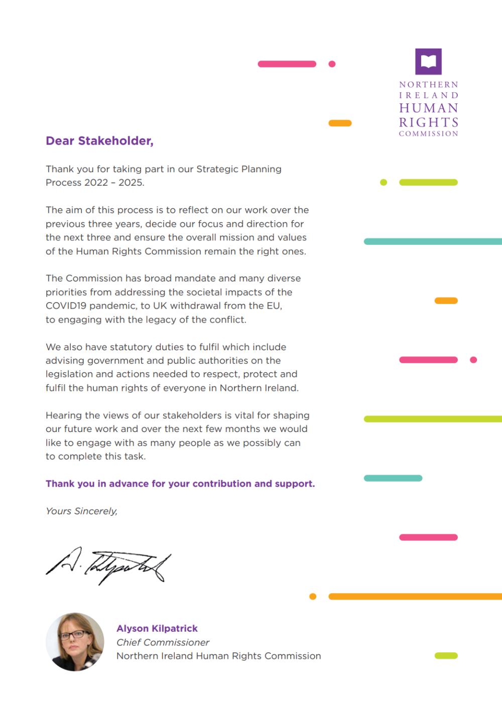 Sp 202225 stakeholder letter
