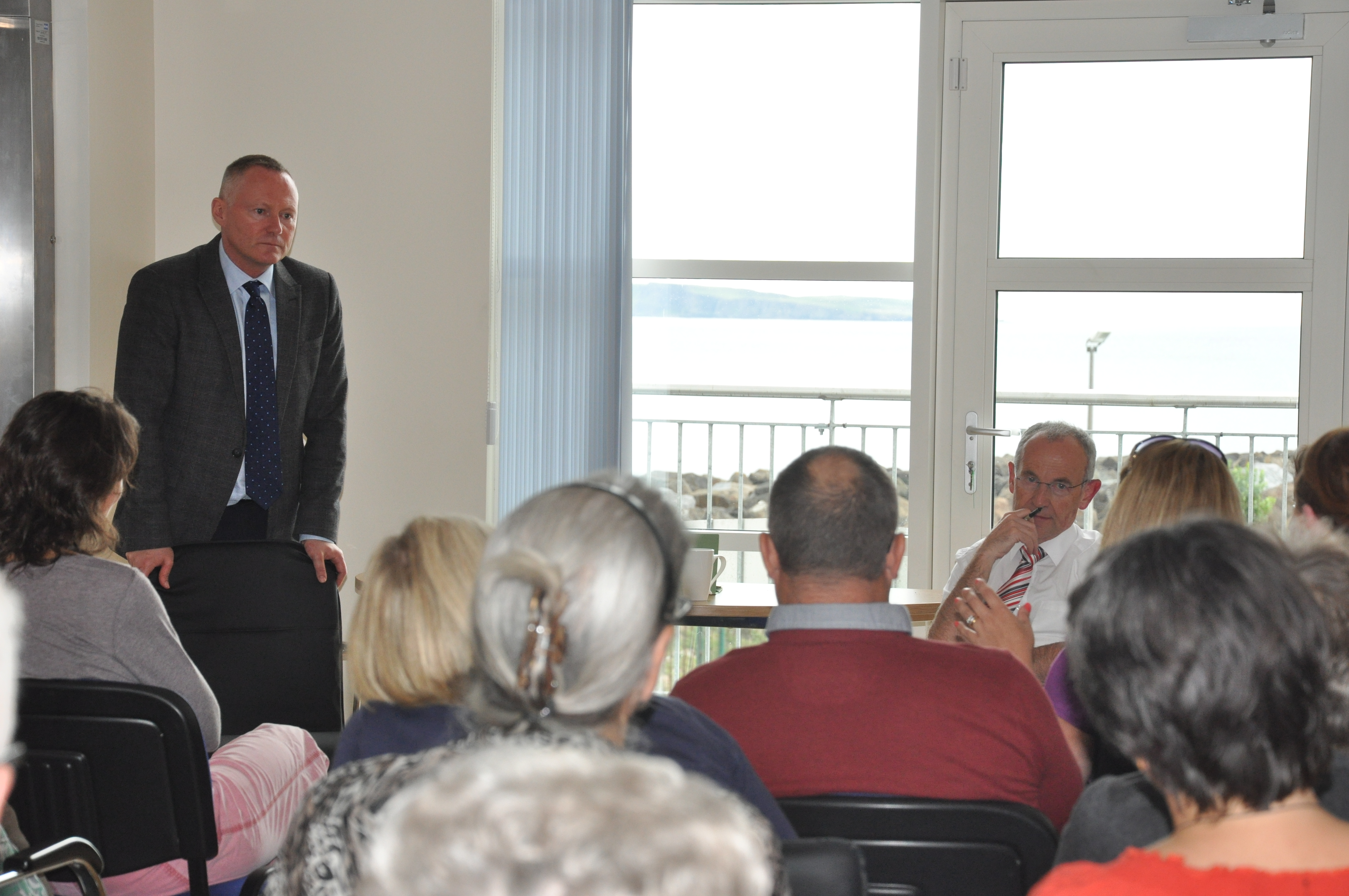 Chief Commissioner Michael OFlaherty at Ballycastle public meeting