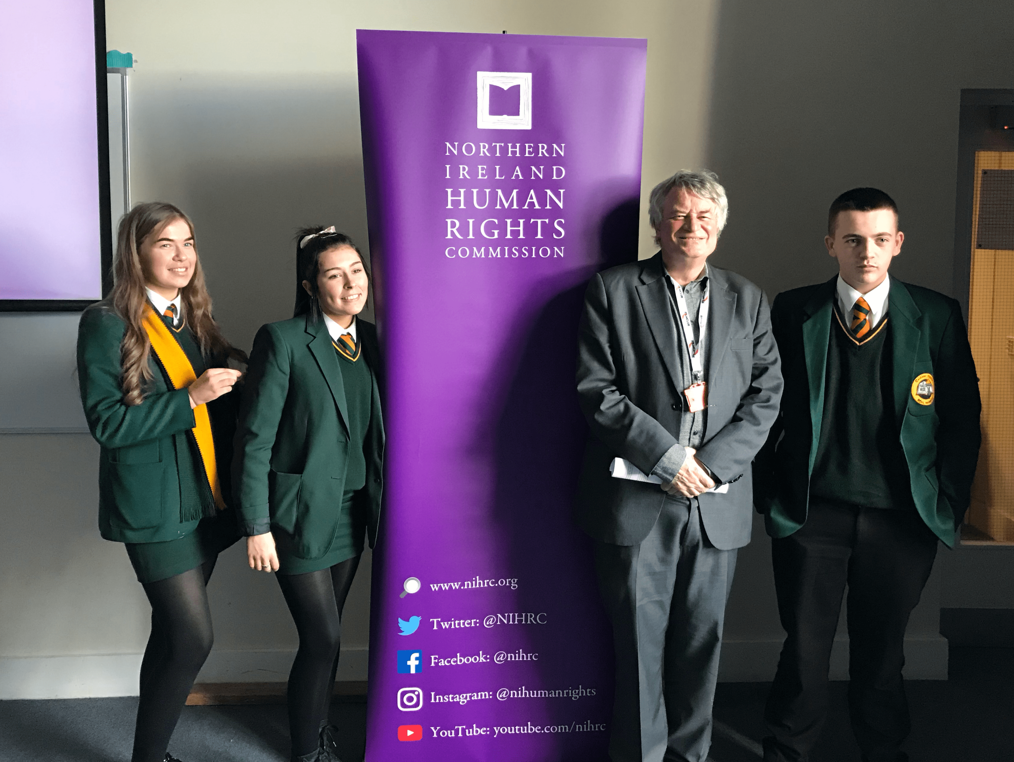 NI Human Rights Commission visit Coláiste Feirste