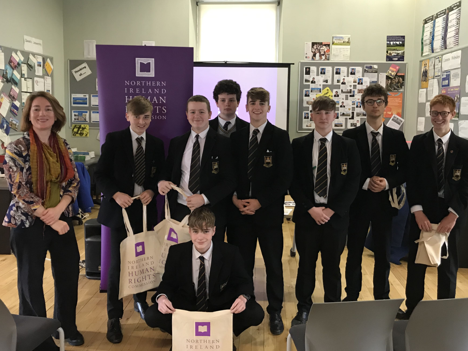 Human Rights Commission visits Royal Belfast Academical Institution